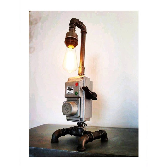 Pipe Style Edison Bulb Industrial Table Lamp Steam Punk