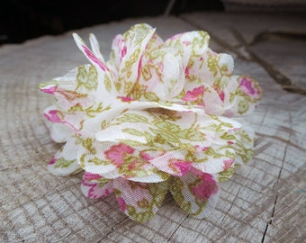 Floral Fabric Hair Clip ~1 pieces #100750