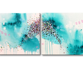 Art Painting Abstract Painting Original Painting Acrylic Painting Canvas painting Modern artwork Wall art Wall hanging Turquoise painting