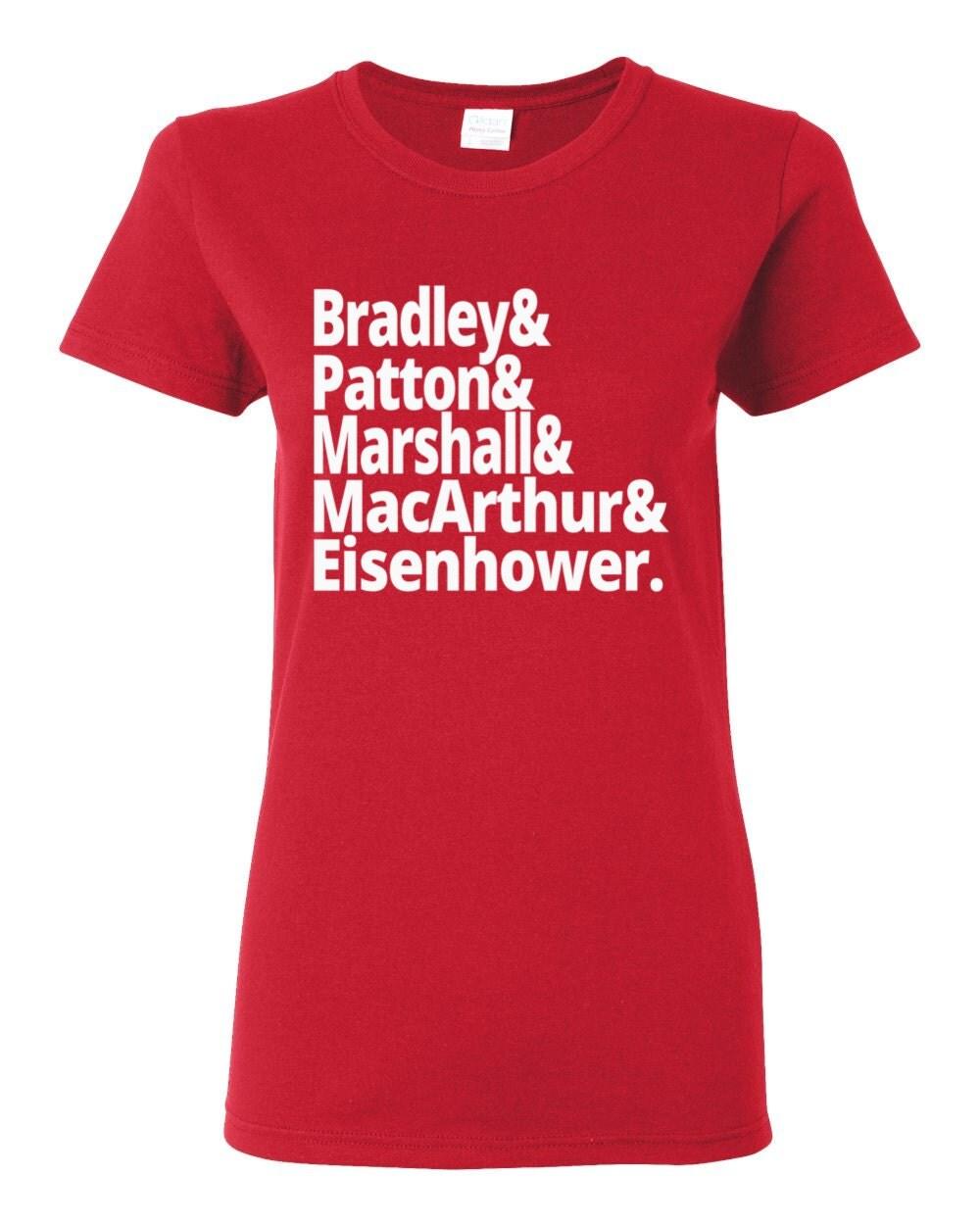 US History - World War II Generals - Bradley, Patton, Marshall, MacArthur and Eisenhower - US History T-shirt