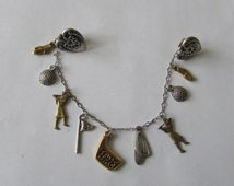 Golf Sweater Clip Vintage Lady Golfing Charms Sweater Guard