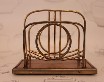 Antique Brass Letter Rack