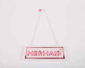Sale Mermaid Acrylic Necklace