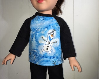 Doll clothing, pajamas, 18 inch doll, fits American Girl Doll, AG,