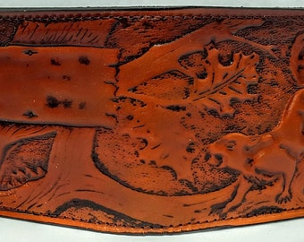 Squirrel Bifold or Trifold Leather Wallet B1814