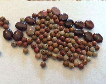 Lot of moukaite stones