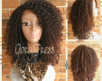 Crochet Hair Bantu Knots : ON SALE // Bantu Knot Out Crochet Braided Lace Front by GloryTress