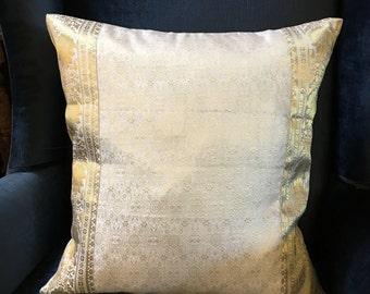 """White Raj Pillow Cover, Decorative throw pillows, Sofa pillow, daybed pillow, 16x16"""" pillow cover"""