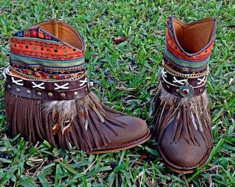 Handmade Leather Boho Boots