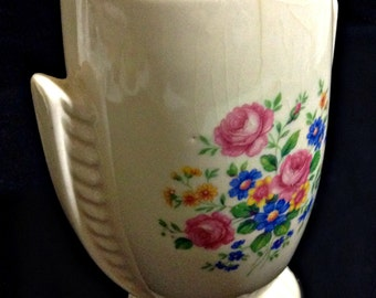 Vintage Royal Copley Vase with Roses