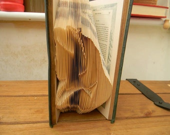 Alice Folded Book Art