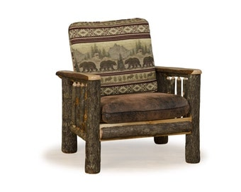 Rustic Hickory On Arm Chair