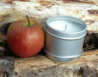Apple Scented Natural Soy Wax Handmade in Scotland Tin Candle
