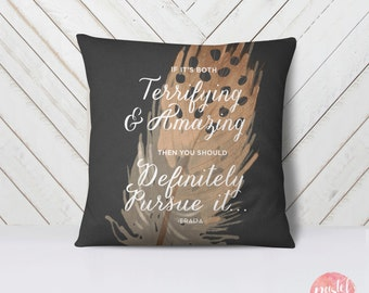 If It's Both Terrifying And Amazing - Throw Pillow Case, Pillow Cover, Home Decor - TPC1033