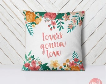 Lovers Gonna Love Pastel Flowers - Throw Pillow Case, Pillow Cover, Home Decor - TPC1027