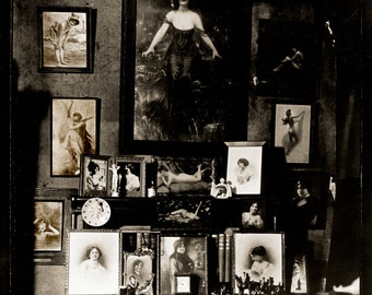 Bellocq Photo, prostitutes room, Storyville, New Orleans, 1910-15