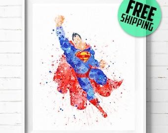 Superman print, Superhero poster, Superhero print, Superman poster, DC Comics poster, Superman abstract, Superman art, wall art, decor 18