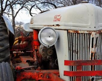 Vintage Tractor Decor, FREE SHIPPING, Rustic Decor, Fine Art Photography, Tractor Wall Art, Home Decor, Farm House Decor, Man Cave Decor