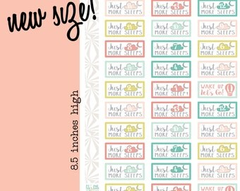 Counting Sleeps | Countdown Stickers Planner Stickers | Vacation Planner Stickers (#014)