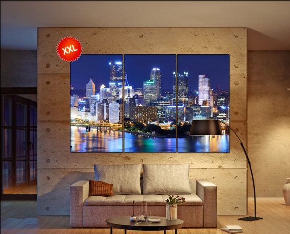 PIttsburgh  canvas wall art skyline PIttsburgh wall decoration PIttsburgh canvas wall art art PIttsburgh  wall decor canvas wall art art