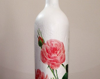 Rose design Vintage Bottle