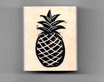 "Pineapple rubber stamp *Image size approx.: 1 1/4"" W x 2 1/4 H*"