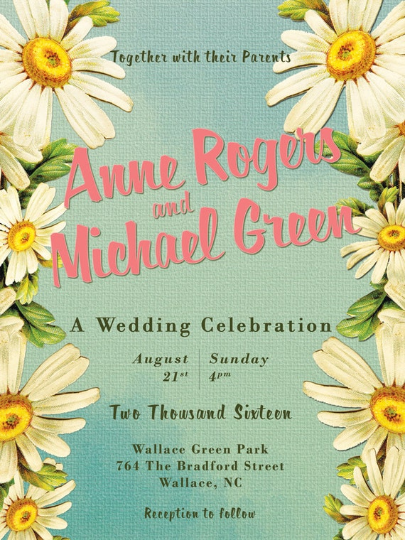 DIY Invitation Suite Floral Wedding Kit Printable