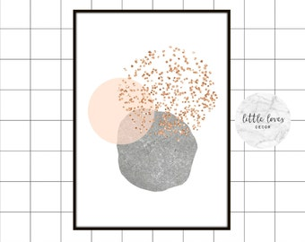 Rose freckle shapes | Print