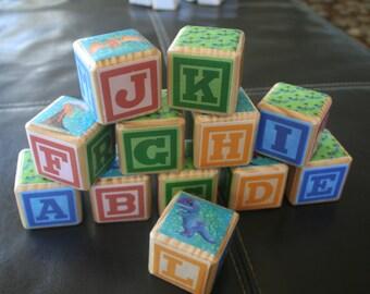 Handmade Alphabet Blocks - Themed