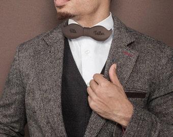 Noeud papillon original en forme de moustache à personnaliser pour Saint Valentin - Accessoire unique pour lui - Noeud pap avant gardiste