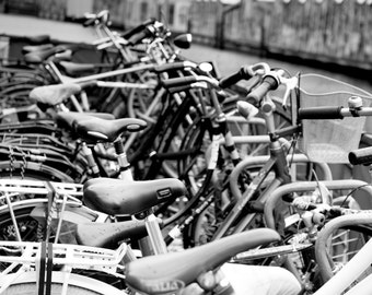 Bicycle Photography Download Amsterdam Bicycle Art Poster Art Black & White Housewarming Gift Office Art Wall Art Home Decor Photograph Art
