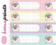 A330 | HAPPY MAIL page flags pastel Stickers Perfect for Erin Condren Life Planner, Filofax, Plum Paper, scrapbooking