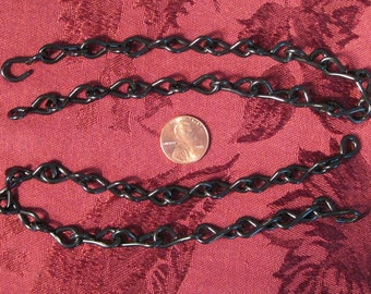 2 - 1 Foot pieces of 14 Ga. Gloss Black chain for hanging  STAINED GLASS SUNCATCHERS.