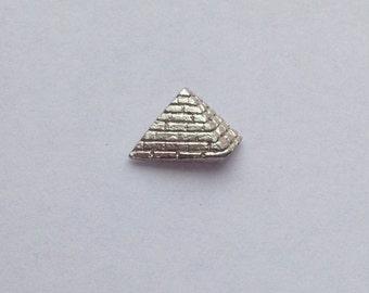 Silver Pyramid Studs (Pair)