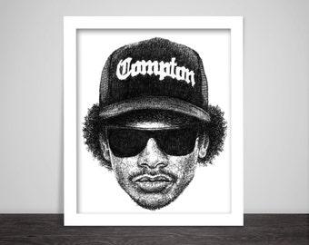 Scribbled Eazy E - Hip Hop Poster