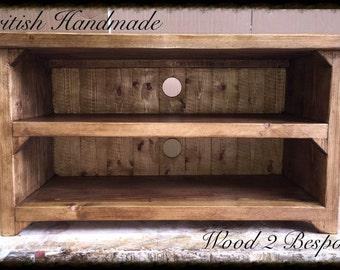 Rustic TV Stand - Wood Handmade