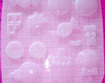 Kawaii Yummy Sweets Decoden Palette -Flexible Plastic Resin Mold