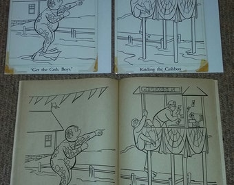 Vintage 1966 Batman Whitman Coloring Book Original Art (Lot 2)