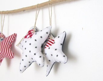 SET of 2 Starfish in Handmade, Nautical Decoration, Home decoration, Sea-life ornament, Shabby Cottage, Nursery Decoration