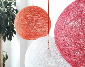 "Children globe pendant light - Lamp for kids - Hanging lamp - Modern pendant lamp - Design lamp - SPHERE (14""-35cm)"