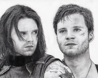 PRINT. Bucky Barnes/The Winter Soldier sketch.