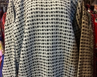 1990' Norwool norway dropped shoulder, thick wool sweater. Size XL.