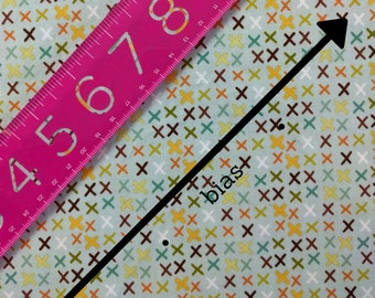 MADE to ORDER - Colourful Tic Tac Teal Bias Tape - 3 yards, width of your choice!