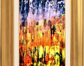 Abstract art original bright acrylic painting