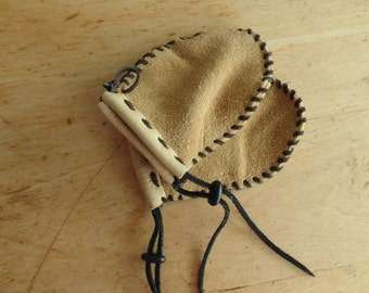 "Of baby (without the thumb) leather-suede d ""Moose mitts"