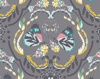Painted-Ladies' Flutter Fabric - Spring's Whisper - sold by the 1/2 yard