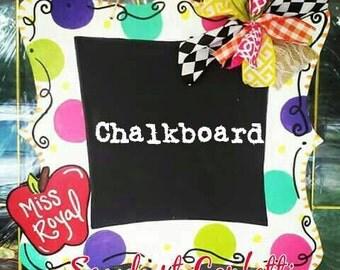 Teachers gift, Teacher Door Hanger, Chalkboard Door Hanger, Classroom Door Hanger