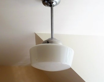 Years 1950 s-Suspension router or big ball glass of milk to the choice-lamp mid century/illuminati10