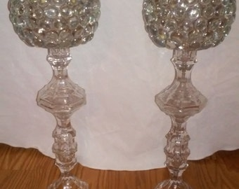 "Set of 16"" Glass Candle Holders"