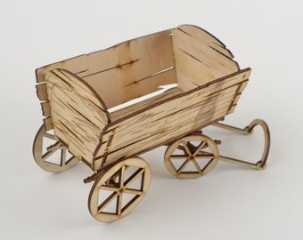 Wooden trolley(candy box)